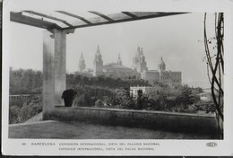 BARCELONA - EXPOSICION INTERNATIONAL - PALACIO NATIONAL - VIAGGIATA 1929 FRANCOBOLLO ASPORTAT0 - Barcelona