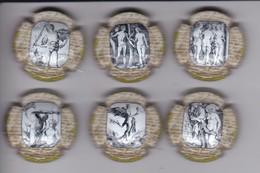SERIE COMPLETA DE 6 PLACAS DE CAVA OLIMER DE DIBUJOS DE DURERO (CAPSULE) - Placas De Cava