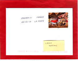 F 2019 / Sur Lettre Voyagée Obl 26/04/19  (1er Jour) Lascaux Dordogne 0.88 € - France