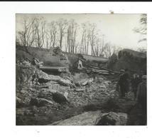 71 ARTAIX Photo Amateur 1933 Canal éventré 13/11 - Lugares