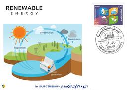 DZ Algeria 1727/8 FDC Energie Rinnovabili Energia Idraulica Acqua Diga Elettricità - Acqua