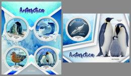 MALDIVES 2019 MNH Antarctica Antarktis Penguins Pinguine M/S+S/S - IMPERFORATED - DH1928 - Antarctic Wildlife