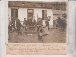 INONDATIONS PARIS EMPLOYES DE L'OCTROI ......  18*13CM Maurice-Louis BRANGER PARÍS (1874-1950) - Lugares