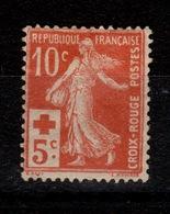 YV 147 Croix Rouge N* Cote 40 Euros - Francia
