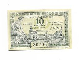 BELGIQUE / BELGIUM - BILLET DE NECESSITE / 10 CENTIMES-1918 - BINCHE / NEUF - [ 3] Ocupaciones Alemanas En Bélgica