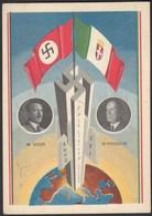 AK NS Militaria Propaganda Karte 3.Reich Hitler-Mussolini 1938 SST (24476 - Militari