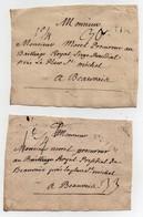 Correspondance Lettre Acte Beauvais Mprel Procureur Baillage Paroisse Curé Le Blanc Lecat (1766) Une Vingtaine De Docume - Manoscritti