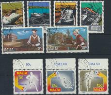 Malta Ex 655-672 Fast Kompletter Jahrgang 1982 Gestempelt - Malte