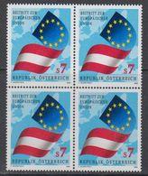 Austria 1995 Admission EU 1v Bl Of 4 ** Mnh (43633G) - Europese Gedachte