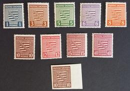 SBZ, 1945, Provinz Sachsen, Freimarken, Provinzwappen, MiNr. 72X ?, 73X - 80X, 84X - Zone Soviétique