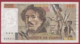 """100 Francs """"Delacroix"""" 1979--F/TTB+--ALPH-K.20 - 1962-1997 ''Francs''"""