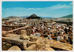 ATHENS    PARTIAL  VIEW  AND  LYCABETTE        (VIAGGIATA) - Grecia