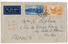 Japon : Lettre Par Avion Pour La France - 1926-89 Emperor Hirohito (Showa Era)