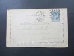 Frankreich 1894 Kartenbrief Poste Restante Ship Letter ?! Nach Tunis - Ganzsachen