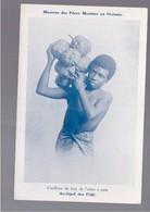FIDJI  Archipel Des Fidji - Missions Des Pères Maristes - Cueillette Du Fruit De L'arbre à Pain OLD POSTCARD - Fidschi