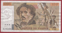 """100 Francs """"Delacroix"""" 1981--F/TTB+--ALPH-L.45 - 1962-1997 ''Francs''"""