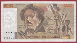 """100 Francs """"Delacroix"""" 1982--F/TTB+--ALPH-F.62 - 1962-1997 ''Francs''"""