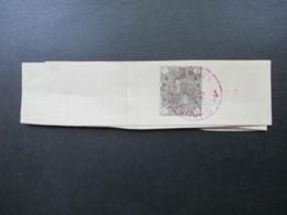 Rumänien 1893 Streifband S3 Mit Violettem Stempel Bucuresti - Covers & Documents
