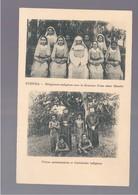 FIDJI  KUBUNA RELIGIEUSES INDIGENES SOUS LA DIRECTION D'UNE SOEUR BLANCHE . FRERES MISSIONNAIRES ET CATECHI OLD POSTCARD - Fidschi