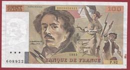 """100 Francs """"Delacroix"""" 1985--F/TTB+--ALPH-P.92 - 1962-1997 ''Francs''"""
