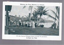 FIDJI  Missions Des Pères Maristes En Océanie - L'île Des Lépreux (Makogai), ARCHIPEL DES FIDJI OLD POSTCARD - Fidschi