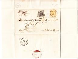 1854 Vollrandige 10 +5 Centes Marken, Mit Stempel Viadana Auf Faltbrief Nach Mantova, Mehrfach Signiert - Lombardo-Veneto