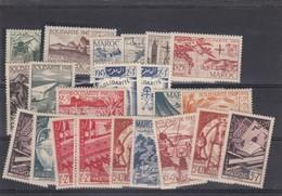 MAROC - LOT DE TIMBRES SOLIDARITE 1947-48-49 NEUFS / 1 - Marruecos (1891-1956)
