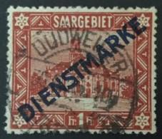 1922 Freimarken Mit Diagonalem Aufdruck Dienstmarke Mi. 11 I - Service