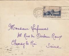 LETTRE. N° 379 SEUL SUR LETTRE. 21 8 38. VERSAILLES POUR CHOSY LE ROI - Postmark Collection (Covers)