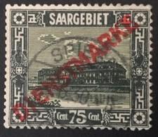 1922 Freimarken Mit Diagonalem Aufdruck Dienstmarke Mi. 10 - Service