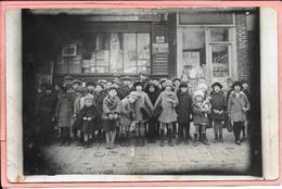 Carte Photo Enfants Devant Librairie Des Gondoles L. Leroy Avenue Victor Hugo Choisy-le- Roi 1926 - Choisy Le Roi