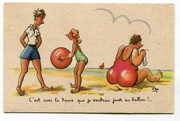 CPA  Illustrateur :   XAV  Plage Ballon   A  VOIR  !!!!!! - Autres Illustrateurs