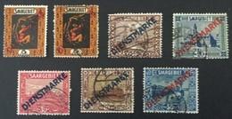 1922 Freimarken Mit Diagonalem Aufdruck Dienstmarke Mi. 2a, 2b, 4, 5, 7, 8, 9 - Service