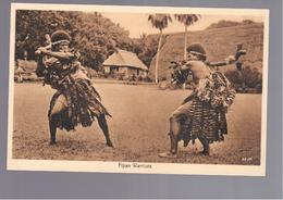 FIDJI  Fijian Warriors  OLD POSTCARD - Fidschi