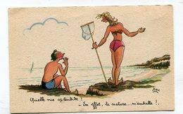 CPA  Illustrateur :   XAV  Plage La Nature  A  VOIR  !!!!!! - Autres Illustrateurs