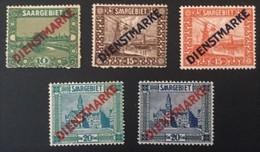 1922-1923  Freimarken Mit Diagonalem Aufdruck Dienstmarke *) Mi. 3, 4, 5, 12, 13 - Servizio