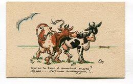 CPA  Illustrateur :   XAV  Vaches Chewing Gum  A  VOIR  !!!!!! - Autres Illustrateurs