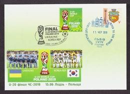 UKRAINE 2019 Art Cover FDC FD COVER Football Soccer FINAL U-20 WORLD CUP POLAND 2019 UKRAINE KOREA REP #845 - Ukraine