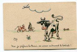 CPA  Illustrateur :   XAV  Vaches Torticoli  A  VOIR  !!!!!! - Autres Illustrateurs