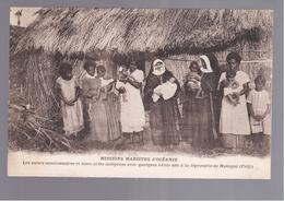 FIDJI  MISSIONS MARISTES D'OCEANIE - MAKOGAÎ QULEQUES BÉBÉS LÉPREUX OLD POSTCARD - Fidschi