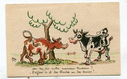 CPA  Illustrateur :   XAV  Vaches Le Taureau  A  VOIR  !!!!!! - Autres Illustrateurs