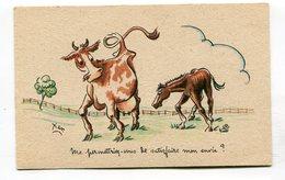 CPA  Illustrateur :   XAV  Vaches Une Envie  A  VOIR  !!!!!! - Autres Illustrateurs