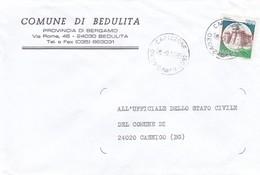 BUSTA VIAGGIATA - BEDULITA (BG) COMUNE DI BEDULITA ( PROVINCIA DI BG) VIAGGIATA PER CASNIGO (BG) - 1991-00: Marcophilia