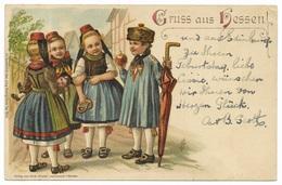 Gruss Aus Hessen! Colour Litho C1902 - Verlag Von Gust Mandt Lauterbach I/Hessen Lith Kunstantalt Heinr & Aug Bruning - Greetings From...