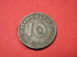 ALLEMAGNE - 10 REICHSPFENNIG 1941 F. - [ 4] 1933-1945 : Third Reich