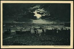 HELGOLAND 1910, KUPFERDRUCK-PK , ABB, BERGUNG DER BOTTE BEI STURM, UNGELAUFEN! - Helgoland