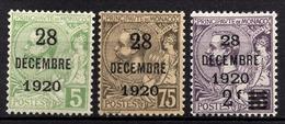 MONACO 1919 / 1921 - SERIE  Y.T. N° 48 / 49 / 50  -  NEUF** - Monaco