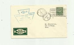 CANADA - Lettre 2c Vert Cachet Western Canada Airways Limited Vignette Dos - 1911-1935 Règne De George V