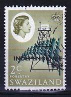 Swaziland Queen Elizabeth 1968 Single 2c Definitive Independence Stamp. - Swaziland (1968-...)
