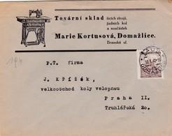 Böhmen Und Mähren Brief Aus Domazlice  1940 - Bohemia & Moravia